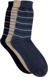 Marc Men's Striped Crew Length Socks (Pa...