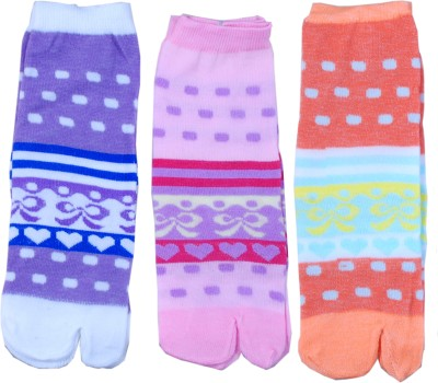 Jainam Women's Self Design Ankle Length Socks(Pack of 3) at flipkart