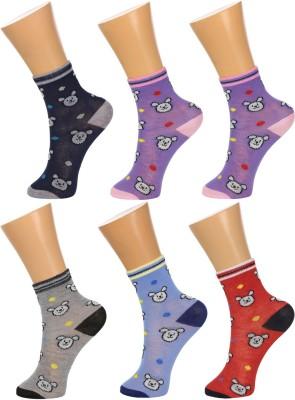 Gumber Baby Boys, Baby Girls Printed Ankle Length Socks