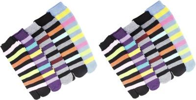 ZACHARIAS Women's Striped Ankle Length Socks