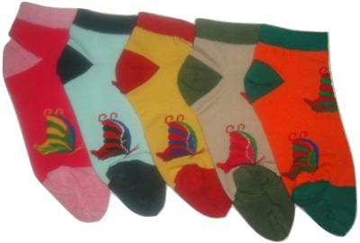 Well Wear Women,s Floral Print Ankle Length Socks
