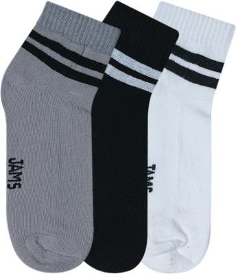 JamsSocks Men's Solid Ankle Length Socks