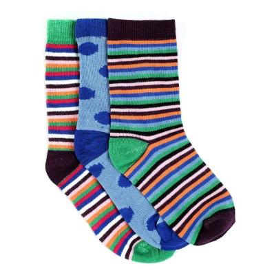 Renzer Women's Polka Print, Striped Knee Length Socks