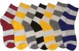 Cotson Men's Striped Crew Length Socks (...