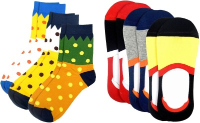 Color Fevrr Mens Mid-calf Length Socks(Pack of 6)