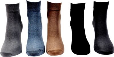 A&G Men's Solid Ankle Length Socks