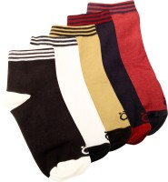 Lefjord Mens Printed Ankle Length Socks(Pack of 5)