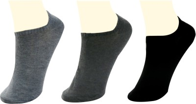 Neska Moda Men's Solid No Show Socks