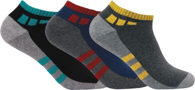 Supersox Mens Geometric Print No Show Socks