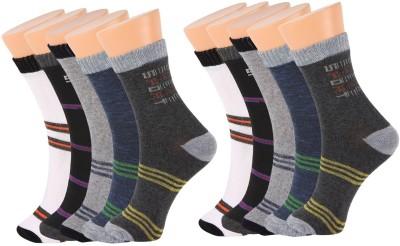 ZACHARIAS Men's Self Design Ankle Length Socks