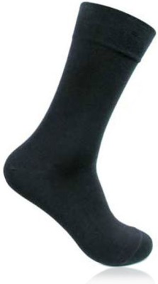 Bonjour Mens Solid Crew Length Socks