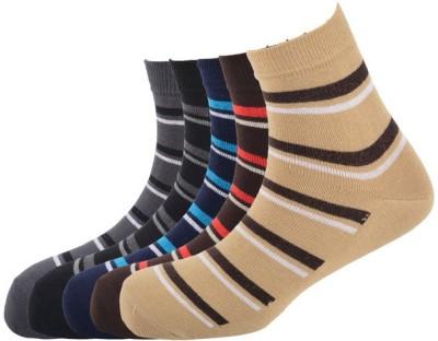Calzini Men's Striped Ankle Length Socks
