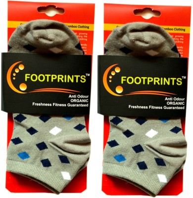 Footprints Men's Checkered Low Cut Socks