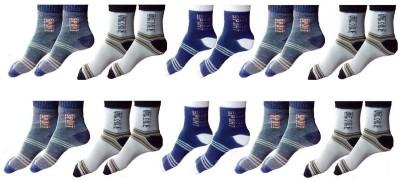 ZACHARIAS Men's Striped Ankle Length Socks