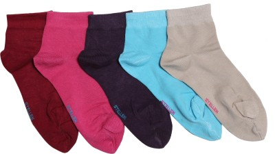 Stellen Women's Solid Ankle Length Socks