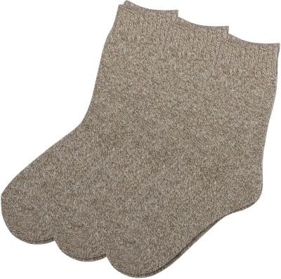 Zobello Men's Woven Crew Length Socks