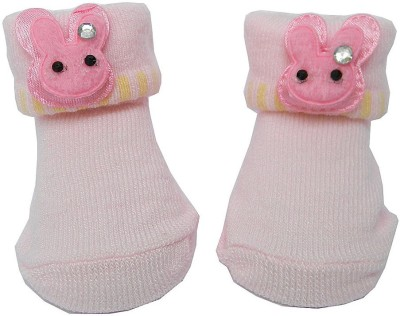 Swaraj Baby Girl's Embellished Footie Socks