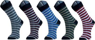 Marc Mens Striped Crew Length Socks