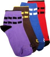 Lefjord Mens Printed Ankle Length Socks(Pack of 4)
