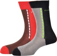Pinellii Pinellii Italian Colloratto-2 N Black & Red Socks for Mens Mens Solid Mid-calf Length Socks(Pack of 2)