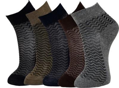 Marc Mens Self Design Ankle Length Socks(Pack of 5)