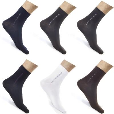 CottonFlake Men's Striped Ankle Length Socks