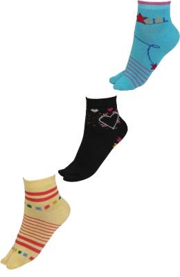 Klair Women's Self Design Ankle Length Socks