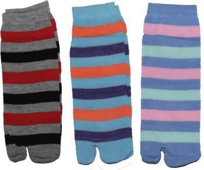 Ishaya Stores Women's Striped Ankle Length Socks