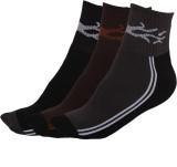 Q-tex Men's Self Design Ankle Length Soc...