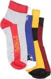 Q-tex Men's Striped Ankle Length Socks (...