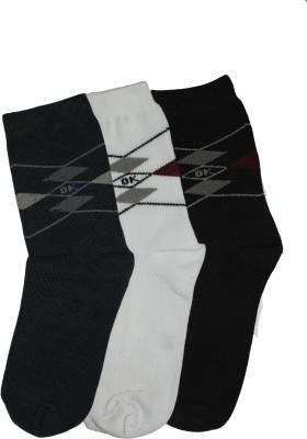 Narang Sons Men,s Geometric Print Crew Length Socks