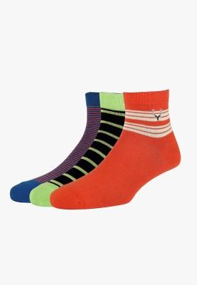 Allen Solly Men's Striped Quarter Length Socks