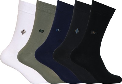 Supersox Mens Solid Mid-calf Length Socks(Pack of 5)