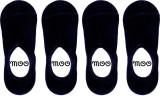 MOO Men's Solid No Show Socks