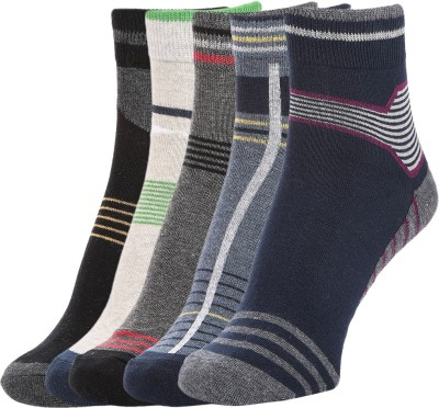 Sir Michele Men's Striped Ankle Length Socks
