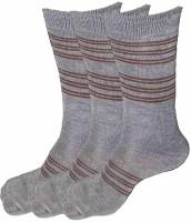 Alfa Jwala Mens Striped Crew Length Socks(Pack of 3)