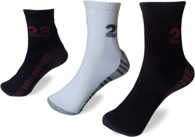 STONIC Men's Self Design Ankle Length Socks