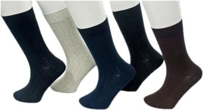 Avm Hw Velvet Men's Self Design Knee Length Socks