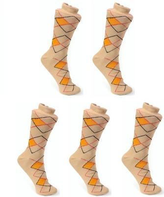 OshopTrades Men's Geometric Print Mid-calf Length Socks