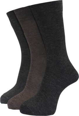 A&G Men's Solid Crew Length Socks