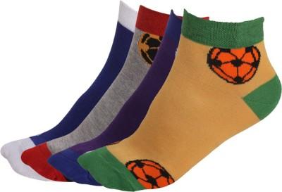 Q-tex Men's Solid Ankle Length Socks