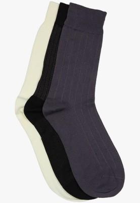 Van Heusen Men's Solid Mid-calf Length Socks