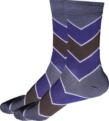 Alleyscott Socks Men's Self Design Mid-calf Length Socks