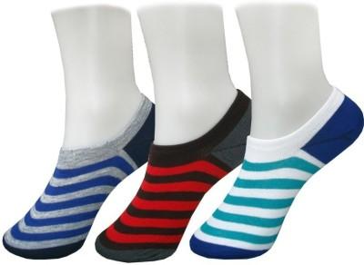 Auraa Men's Striped No Show Socks