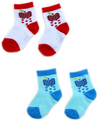 Smartkshop Baby Girl's Self Design Quarter Length Socks