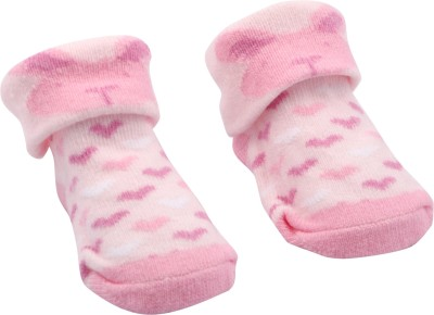 Offspring Baby Girl's Printed Footie Socks