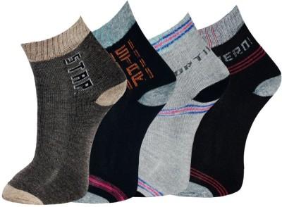Gen Men's Graphic Print Ankle Length Socks