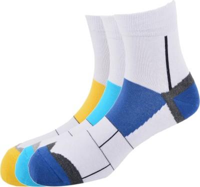 Calzini Men's Solid Ankle Length Socks
