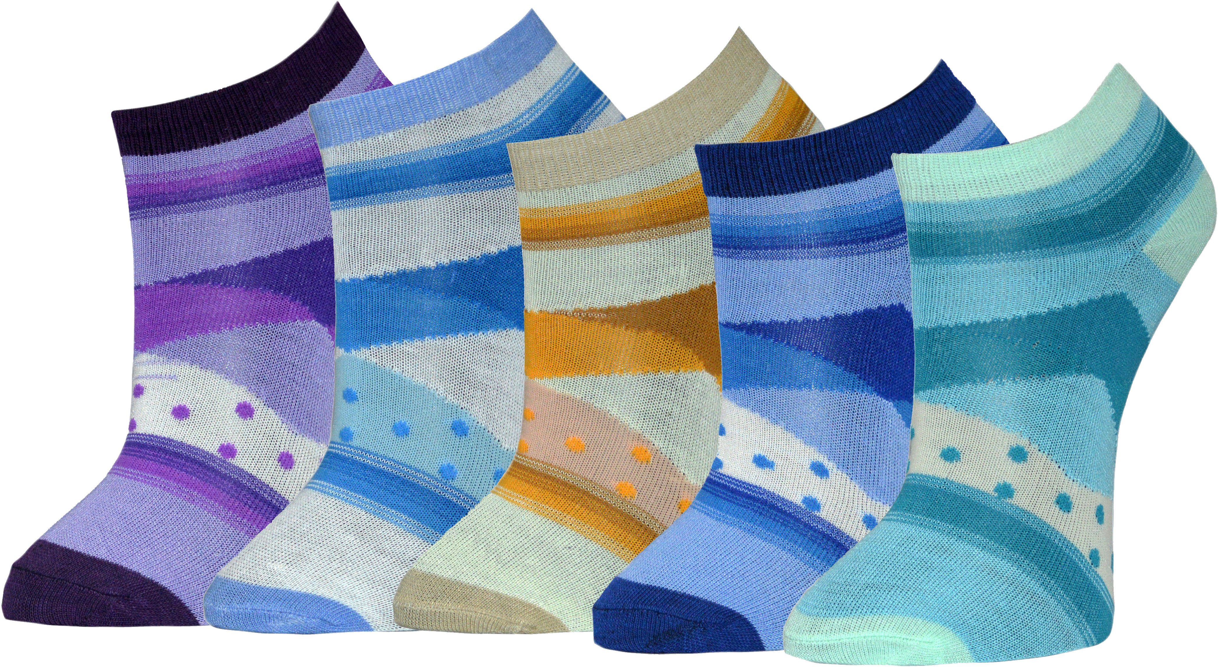 Gen Womens Graphic Print Footie Socks(Pack of 5)