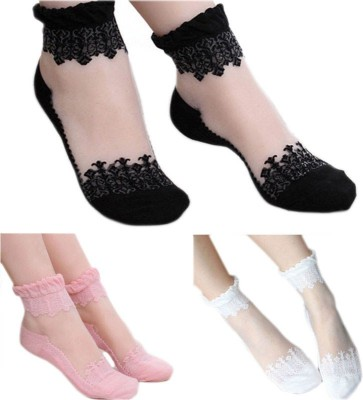 Sabhya Sakshi Women's Solid Ankle Length Socks